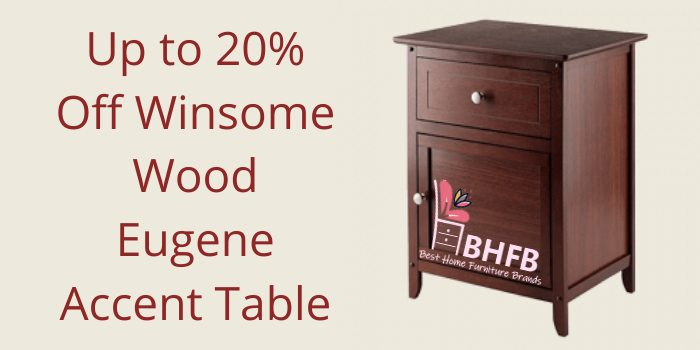 Up to 20% Off Winsome Wood Eugene Accent Table